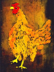 Sicilian Buttercup – monoprint on paper – 21×29.7cm