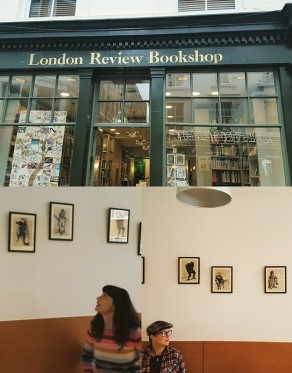 –  My 'In the city' series are on show at the London Review Bookshop in central London. March the 3rd till 31st of May 2019