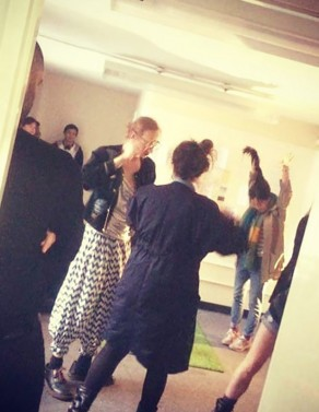 –  'Human events': semi improvised choreography with visitors as performers. Piece presented for the exhibition/event 'Hidden in plain sight' at the Fill the Gap gallery for ArtLicks 2018 with collective AltMFA. October 2018